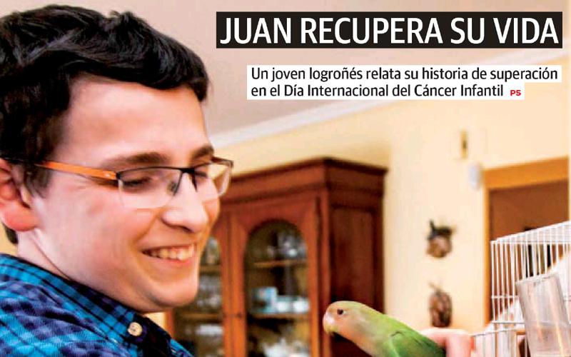 """""""Juan recupera su vida"""", un reportaje en Diario La Rioja"""